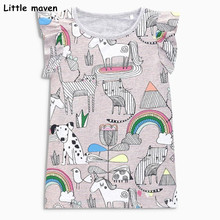 Buy Little maven children clothes 2018 summer baby girls clothes short sleeve tee tops Animal print Cotton brand t shirt 50979 for $7.70 in AliExpress store