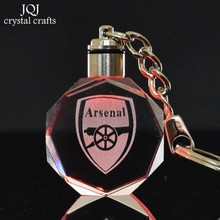 Laser Engraved Arsenal Football Club Logo Crystal Octagon Miniature Changing Colors Light Craft Home Decor Gifts
