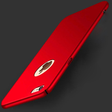 Utral Thin Pure Color Scrub Plastic Full Body Hard Cover For iphone 6s SE 5 5s 6 7 Plus Hard Back Hole  Apple Phone Cases