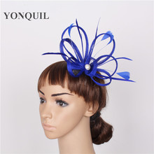 Free shipping 17 color avaliable sinamay fascinator hats good bridal hats/cocktail hat,Very nice  Summer hat 6pcs/pvc box,MSF208