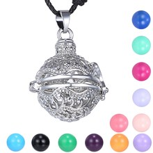Copper Chime Mexican Bola Pendant for Pregnant Women New Designer Jewelry Ball Pendant silver Plated