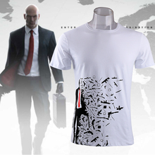 Game Hitman 6 Mens Casual Hitman 47 Vintage Agency Symbol Cotton O-Neck Printing Pattern Tops Clothing Tee Shirts T-shirts(China)
