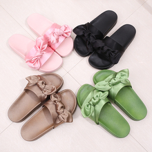 Women's Cute Bow Riband Fashion Slippers Flat Shoes Beach Bowtie Slipper Sandals Flip Flop Women Shoes Pantufa Scarpe Donna
