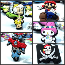 10pcs Mixed Styles High Quality Classic Cartoon Shoe Charms Accessories Party Home Decoretion Kids Children Gift Fashion(China)