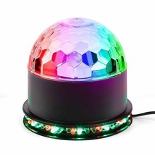 Buy party light Disco Ball Club lights Magic Mini Led Stage Lights Christmas Home KTV Xmas Wedding Show kids birthday decoration for $13.25 in AliExpress store