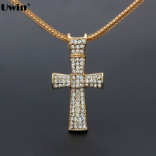 Mens 63cm chains Golden Jesus Piece Fast and Furious Cross pendant necklaces Colar de Ouro snake For Holiday Gift