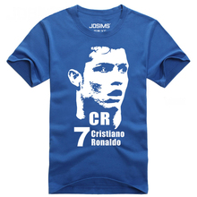 DUZJIAN Summer cotton Cristiano Ronaldo head male short sleeve t-shirt bodybuilding compression shirt t-shirt 3d marketing