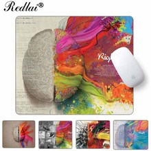 Redlai Mouse Mats For Computer Laptop,Unique Left and Right Brain/Camera Pattern Rubber Gaming Mouse Pad without Locking Edge