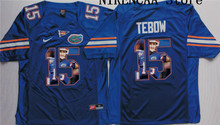 Nike 2016 Florida Gators Blue TEBOW #15 Star and Players picturesT-shirt Limited Jersey