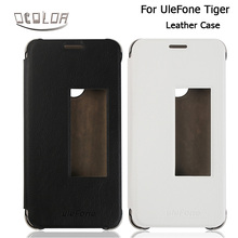 UleFone Tiger PU Leather Case With View Window Original Flip Cover In 2 Colors for UleFone Tiger Mobile Phone Accessories