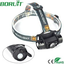 1500 LM 3W Mini IR Sensor Headlight Induction USB Rechargeable Lantern Headlamp 1Mode Flashlight Head Torch by 18650 Battery