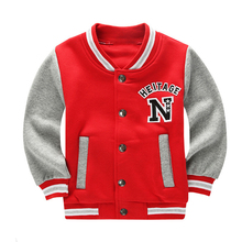 2017 Spring Autumn Children Coat Letter Pattern Student Baseball Wear Boys Sweatshirt Girls Hoodies Casual Kids Jacket Outerwear
