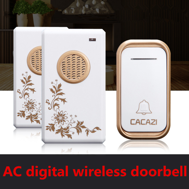 1 transmitter+2 receivers High Quality home DoorBell Waterproof 200m work range Mini Wireless Door bell 38 Ring tunes for choose<br>