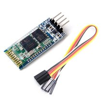 Free shipping new 1PCS HC-06 Wireless Serial 4 Pin Bluetooth RF Transceiver Module RS232 TTL for Arduino +  Dupont line