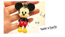 10pcs/lot 6cm Disny Mickey Minnie Doll ABS Key Chains Bag Ornament Hanging Kids Birthday Festival Party Favors
