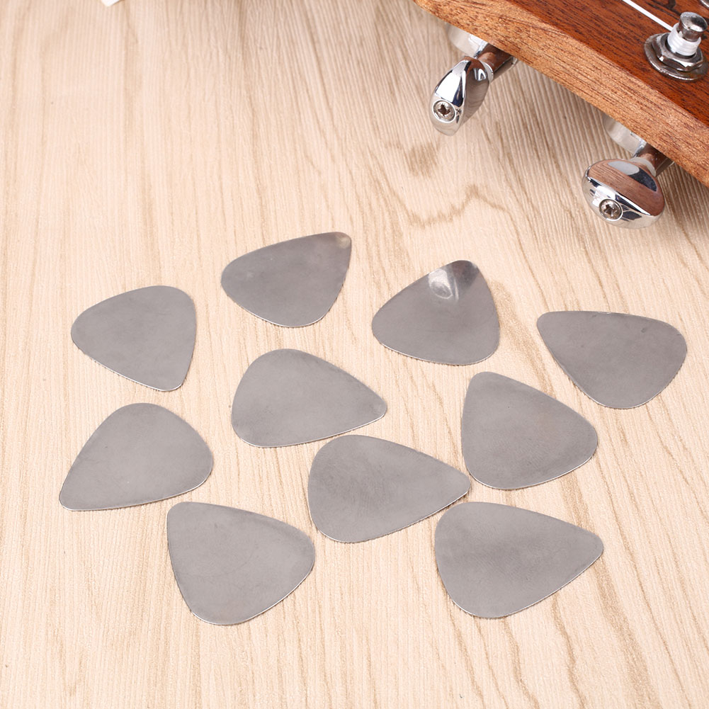 10Pcs Cool Stainless Steel Metal Picks Plectrums for Electric Guitar Supplies<br><br>Aliexpress
