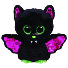 "6"" 15cm Ty Beanie Boos Big Eyes Cute Slick Black Bat Baby Plush Stuffed Doll Toy Soft Collectible Soft Big Eyes Toys"