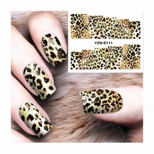 YWK 1 Sheet DIY Ornaments On Nails Water Decals Leopard Designs Transfer Stickers Nail Art Tattoo Decals #8111