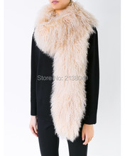 SF0122 150*16cm Fashion Stole Lady Winter Big Scarf Hot Sale Factory Supply Real Fur Scarf