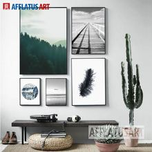 AFFLATUS Nordic Minimalism Landscape Canvas Painting For Living Room Wall Pictures Canvas Art Print Poster Home Decor No Framed(China)