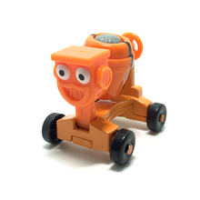 X011 Freeshipping New Hot Genuine Bob Babu engineering car Babu engineer toy cement mixer Disi flower(China)