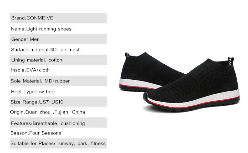 Hot Sale Breathable Men Shoes Mesh (air Mesh) Superstar Sneakers Light Flats Mens Loafers Casual Slip on Male Chaussure Homme 4