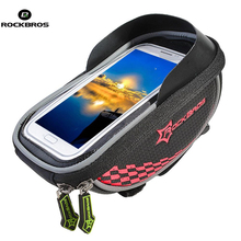 ROCKBROS Cycling Bags Rainproof Rinding Bicycle Bike Handlebar Phone Storage Bag Holder GPS Touch Screen Case Bicycle Bag Pouch