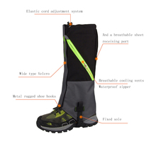 2 Layers Waterproof Camping Hiking Snow Leg Gaiters Boots Outdoor Skate Skiing Walking Shin Leg Protector Leg Support