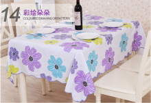 Printed three Color Flower Tablecloths for Restaurant Home Hotel Party Table Cloth Bar Cloth PVC Waterproof and Oilproof
