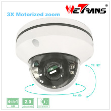 "HD PTZ Camera AHD 2"" Mini 1080P Full HD 2.8-8mm 3X Zoom Motorized Zoom Lens 15m Infrared Night Vision PTZ Dome Camera"
