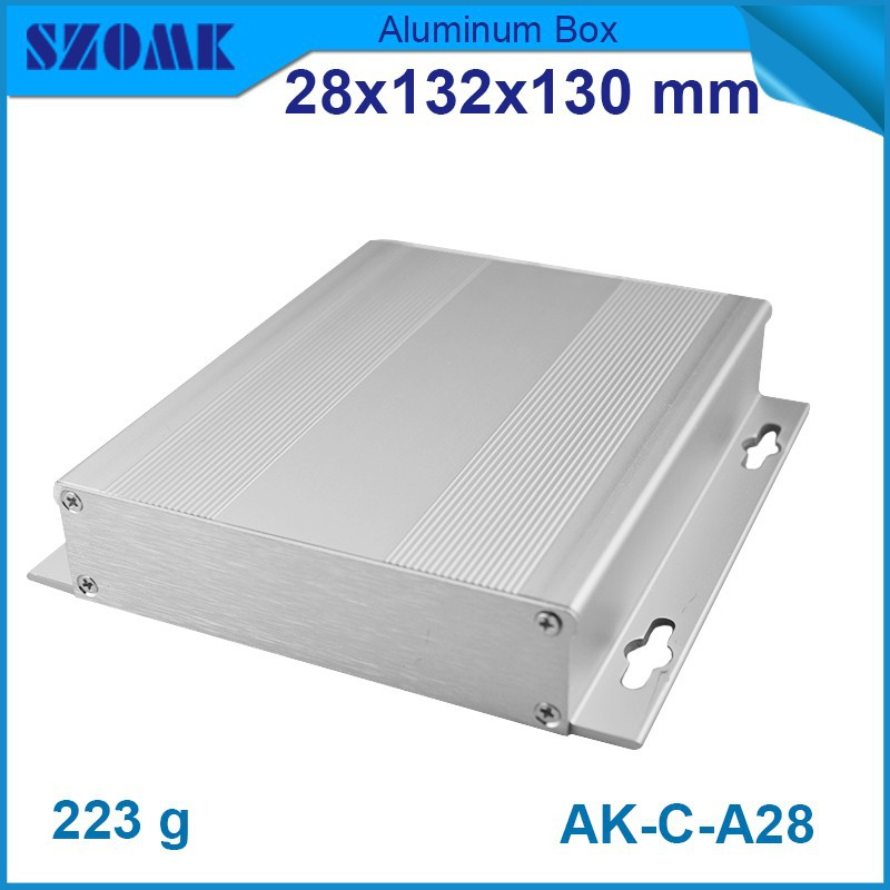 1 piece free shipping 28(H)x132(W)x130(L) mm silver color aluminium enclosure box body and screws for GPS tracking and led<br><br>Aliexpress