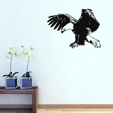 Vinyl Most Popular Animal Birds Wall Decal Removable Flying Eagle Wall Stickers