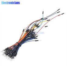 Free Shipping 65pcs Breadboard Jumper Cables For Arduino Jump Code Wire Kit Set Breadboard Wires Wholesales