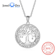 Tree of Life Large Pendant Necklace Jewelry 925 Sterling Silver Necklaces    Pendants For Women Best Gift (JewelOra NE101908) 3ed4e2eb37d1