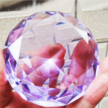 6cm Mixed Color Shinning Crystal Diamond Paperweight Glass Fengshui Crafts Home Decor DIY Birthday Wedding Gift Party Souvenir