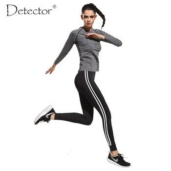 Deportes de la aptitud de las mujeres pantalones de yoga pantalones de fitness yoga corriendo ropa funcional sudor de secado rápido pantalones lleva la nalga legging