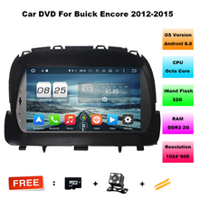 "Octa Core 8"" Android 6.0 car dvd player for Buick Encore Opel Mocca With Car Audio GPS 3G/WIFI Bluetooth IPOD Radio USB 32GB ROM"