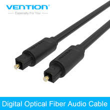 Vention Cabo Optico Audio Optical Cable Gold Plated AUX Cables Digital Optic Fiber Toslink Converter For DVD TV Computer Cable(China)
