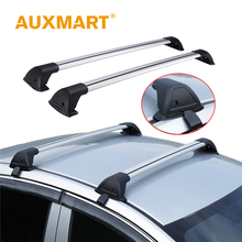 Auxmart Universal Car Roof Rack Cross Bar 120cm with Anti-theft Lock Car Top Roof Rails Racks Boxes Load Carrier Cargo Luggage(China)