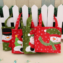Christmas Santa/ Snowman Gift Bag Handbag Non-woven Candy Gift Bag For Children Christmas Decoration Supplies #810