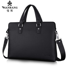 2017New Manbang Brand Men Faux Leather Bag Luxury Microfiber Handbags Business Briefcase Computer Bags MBJ00311H