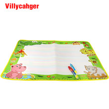 74*49cm Children Water Drawing Mat 1 Painting Mat +2 Water Drawing Pen Painting toy Education toy birthday gift for kids(China)