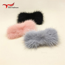 New Genuine Mink Fur Bow tie shoes Clip Fashion haarband Hats Accessories Fur Clothing Hair Band Accessories Gift wholesale