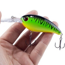 1Pcs Artificial 7 colors Hard Plastic Mini Crank Bait Swim Bass Swing Gear Suitable For Winter ice Fishing Fishing Equipment(China)