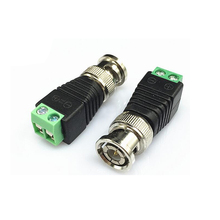 20Pcs/lot Mini Coax CAT5 To Camera CCTV BNC UTP Video Balun Connector Adapter BNC Plug For CCTV System Accessories(China)
