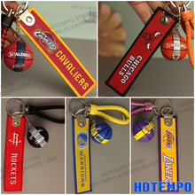 HOTEMPO 5 Style Famous Basketball Team Logo Action Figure Keychains Sports Key Covers Kids's Best Gifts(China)