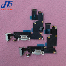 10pcs/lot for iPhone 6 plus 5.5inch Dock Connector Usb Charger Charging Port Flex Cable Ribbon with Headphone Audio Jack(China)
