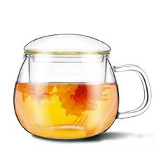 Drinkware Best Heat Resistant Glass Tea Pot Flower Tea Set Puer kettle Coffee Teapot Convenient With Infuser Office Home Teacup