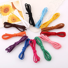 Cheap 1m/pcs Wild Double Velvet Handmade DIY Jewelry Accessories Weave Bracelet Necklace Imitation Leather Cord Gift Wholesale(China)