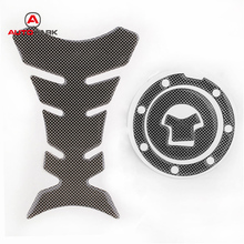 car-styling Carbon-Look Fuel Tank Decal Pad + Gas Cap Pad Cover Sticker For Honda CBR 600RR F4i Motorcycle Decals & Stickers
